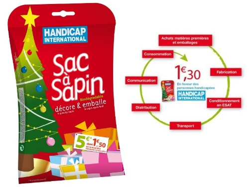 sac a sapin de handicap international