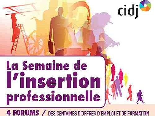 Semaine insertion professionnelle CIDJ
