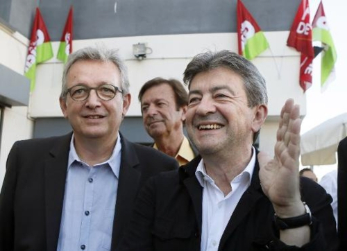 Les co presidents du Parti de gauche