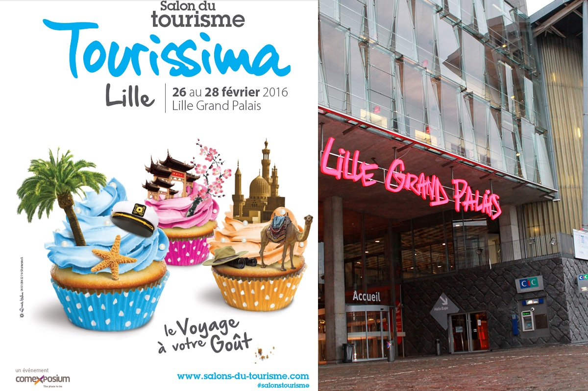 Salon TOURISSINA de Lille du 25 au 28 fevrier 2016