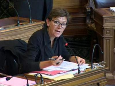 Veronique DUBARRY lors de son intervention au conseil de Paris le 24 septembre 2012
