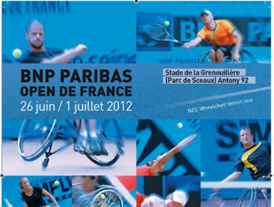 Affiche Open de France Paribas Tennis Fauteuil 2012