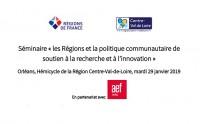 """Les Régions et la politique de soutien à la recherche et à l'innovation"""","""