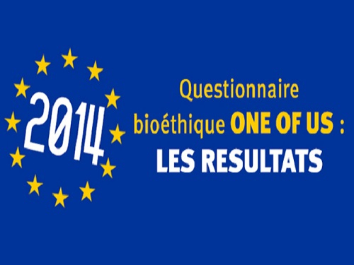 One Of Us reponses a son questionnaire bioethique