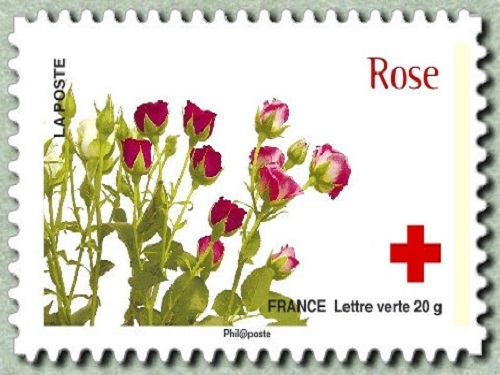 Timbre de la collection CRF 2014 la Rose©Thinkstock