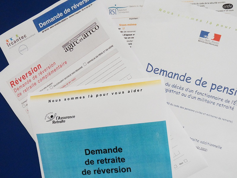 Dossier de demande de pension de reversion