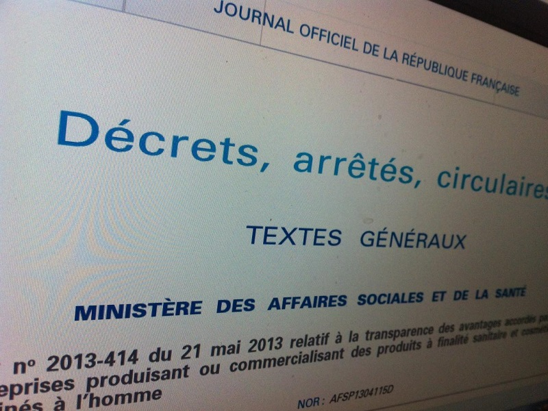 Loi et Decret publication Journal Officiel