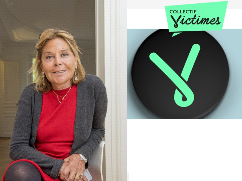 Maitre Jehanne COLLARD Avocat au barreau de Paris et presidente de le Collectif victime et Logo de l association