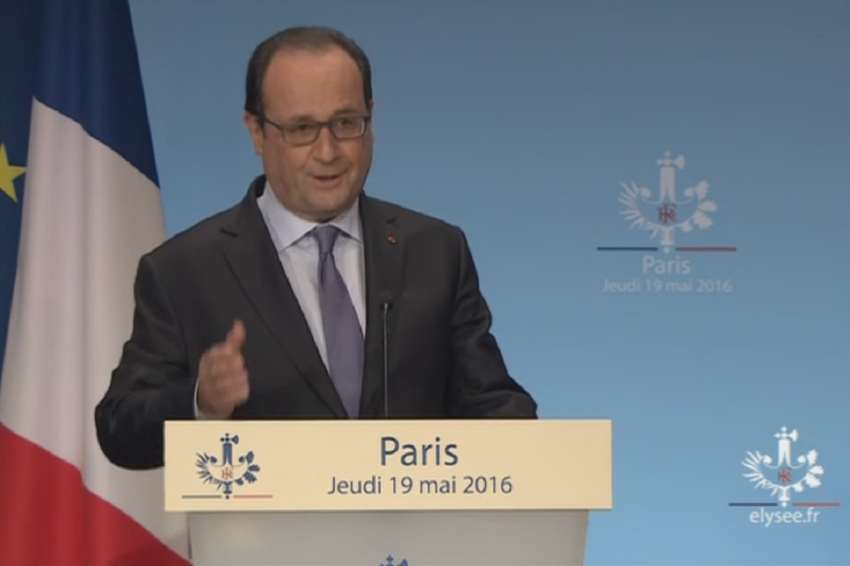 Francois HOLLANDE 4 edition de la conference nationale du handicap a Paris