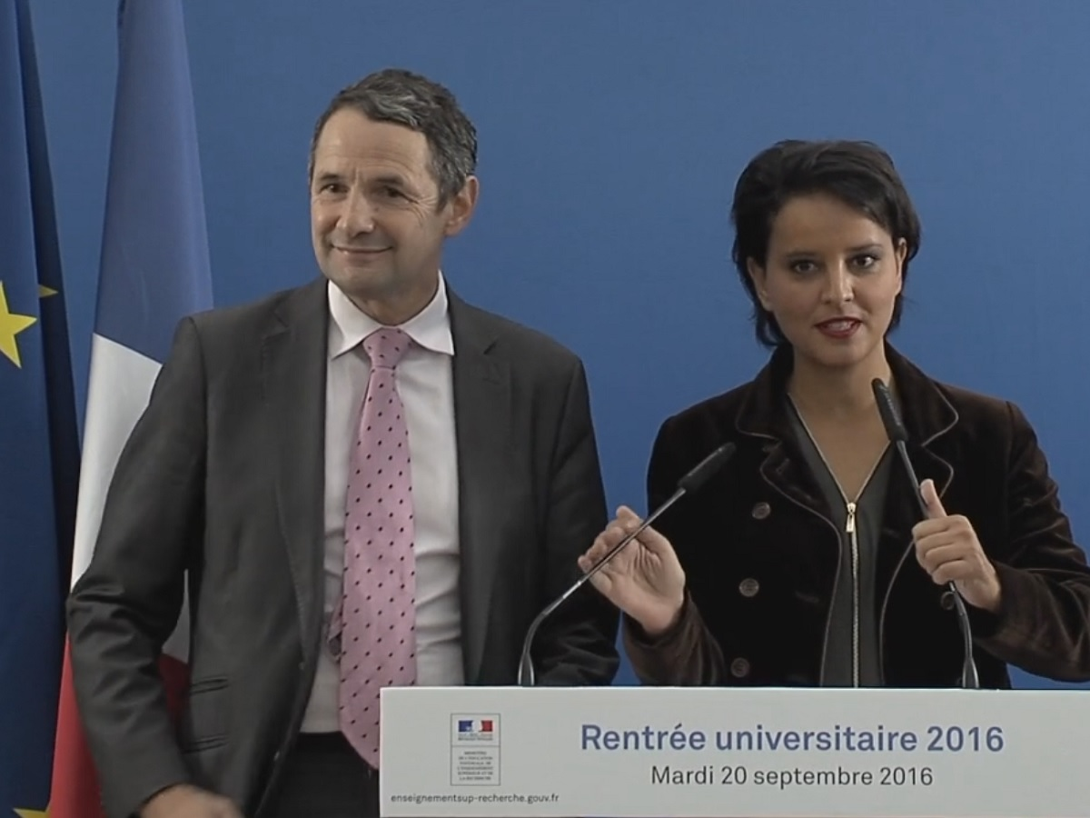 Conference de presse de la rentree universitaire 2016 le 20 septembre 2016