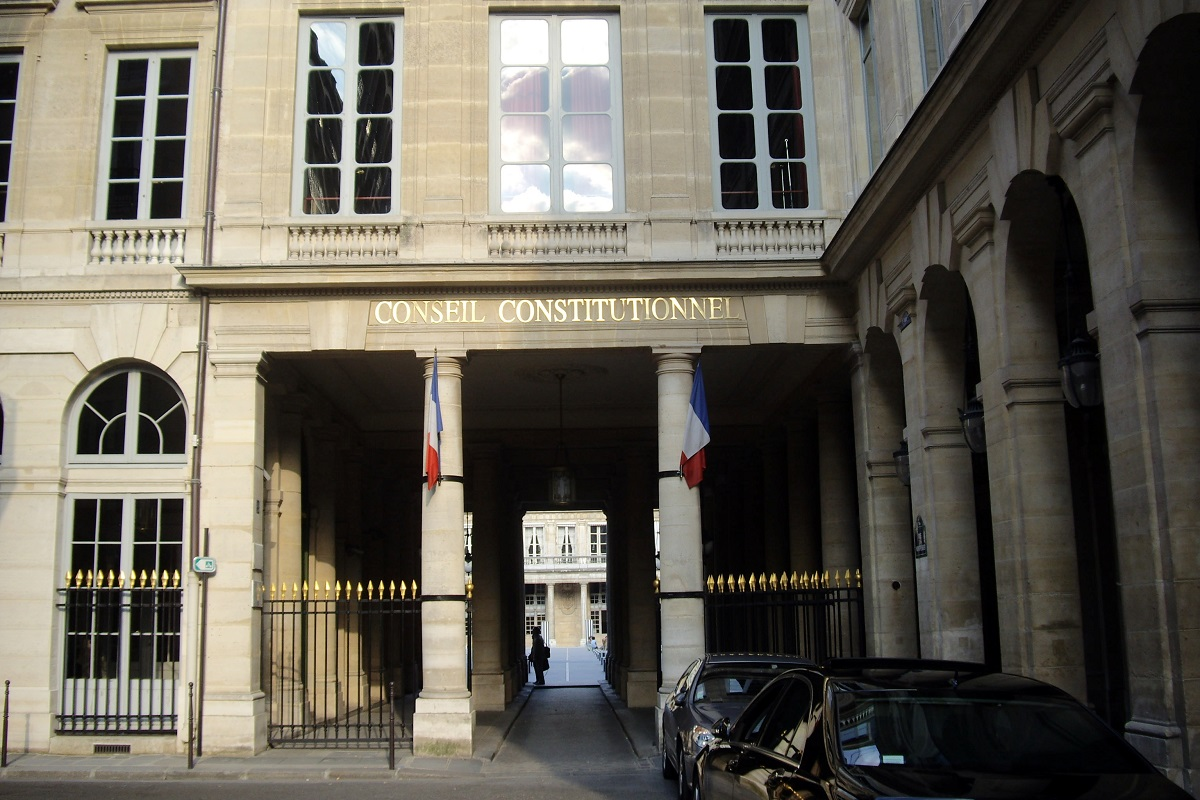 Facade du Conseil constitutionnel, au Palais Royal, a Paris