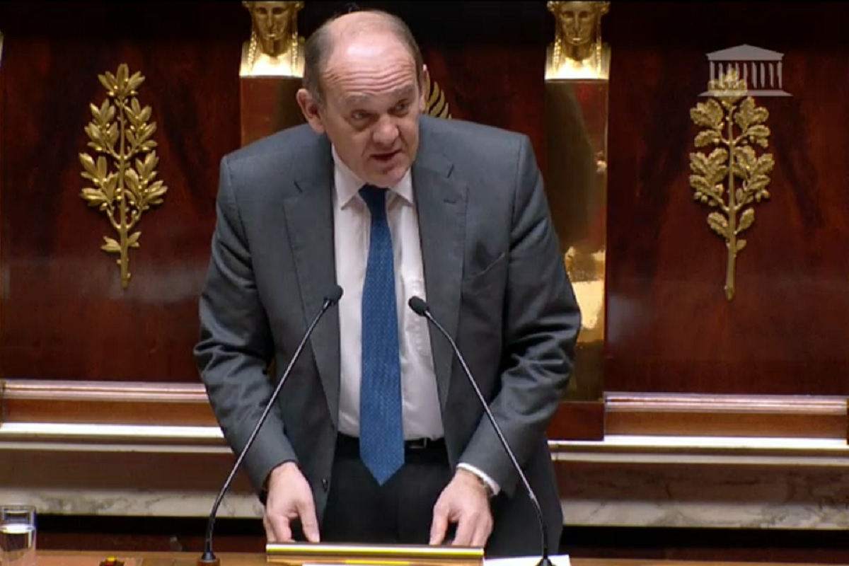 Le Depute Daniel Fasquelle lors de l intervention pour l explication de sa resolution