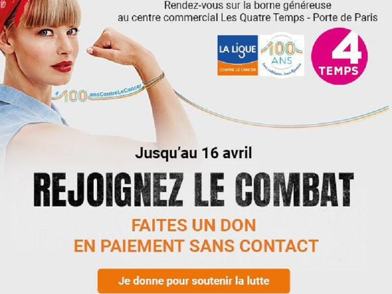 Faite un don sans contact pour la Ligue contre le Cancer
