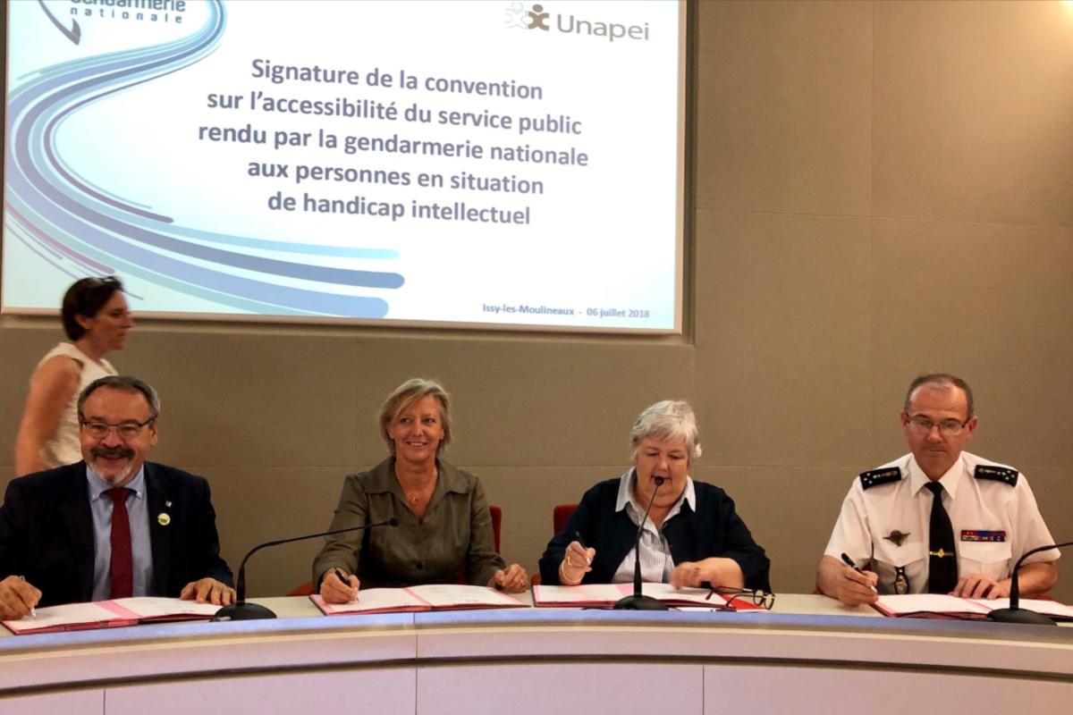 Signature Convention Unapei_Gendarmerie nationale