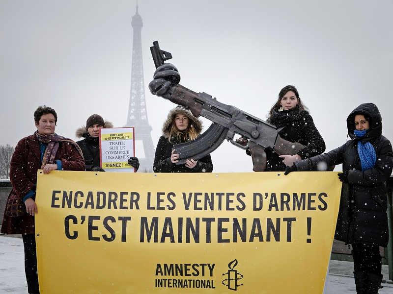 Ammisty Internationale traite sur le commerce des armes
