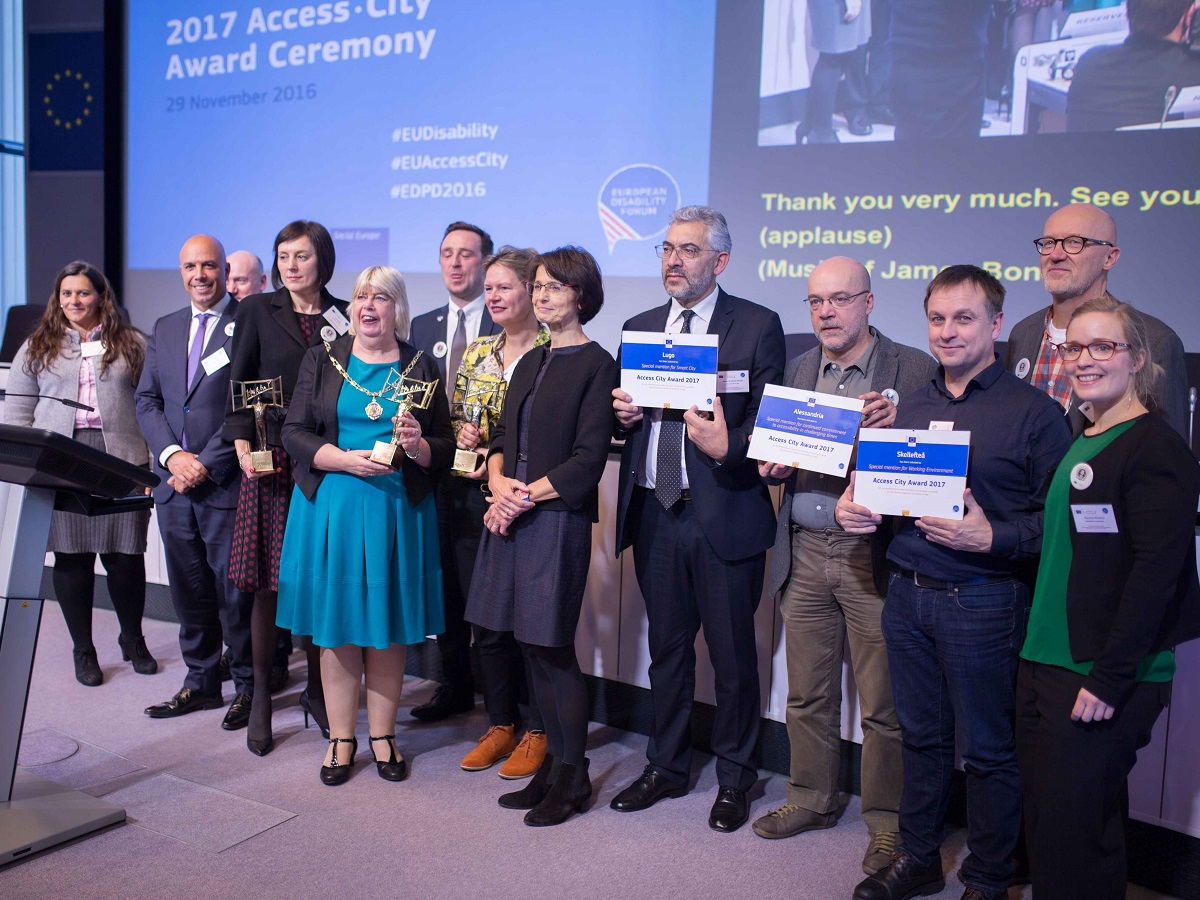 Les Laureats du prix europen de l accessibilite Access City Award
