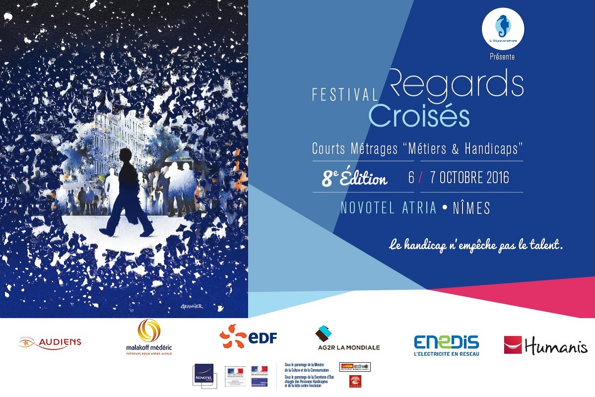 Affiche de la 8 edition festival regards croises 2016