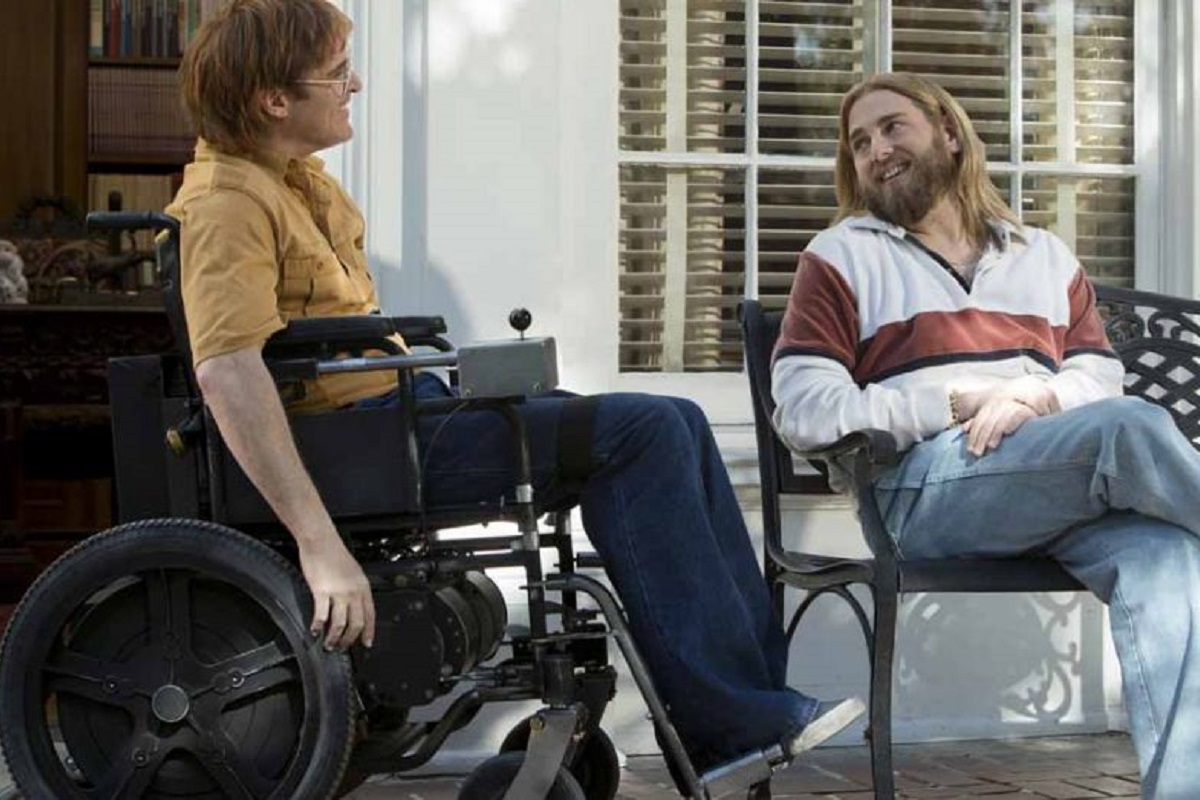 John Joaquin PHOENIX et Donnie Jonah HILL dans le film Don't worry, he won't get far on foot